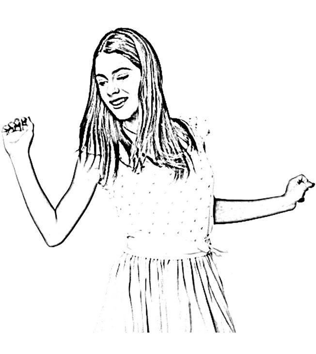 Coloriage De Violetta Dessin Elle Chante Et Elle Danse A Colorier