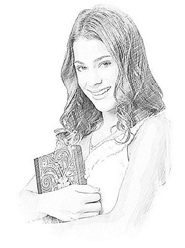 Coloriage de violetta dessin une sympathique jeune fille - Dessin de jeune fille ...