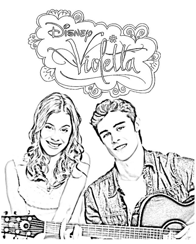 Free Coloring Pages Of Violetta Saison 1