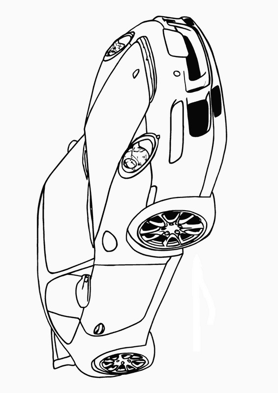 Coloriage de voitures dessin la fameuse porsche 911 for Plans de dessins de porche