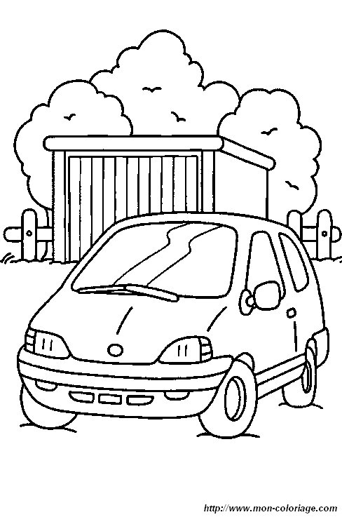 Coloriage de voitures dessin voiture garage colorier - Dessin garage ...
