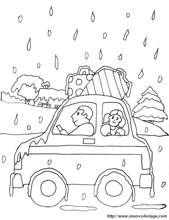 Coloriage de voitures dessin voiture neige colorier - Dessin a colorier de voiture ...