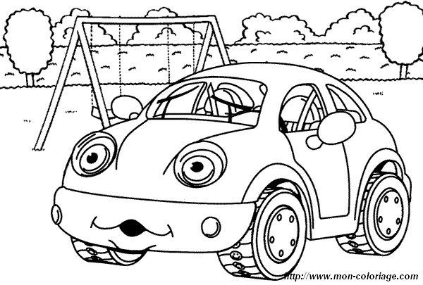 Coloriage de Voitures, dessin voiture sympa à colorier
