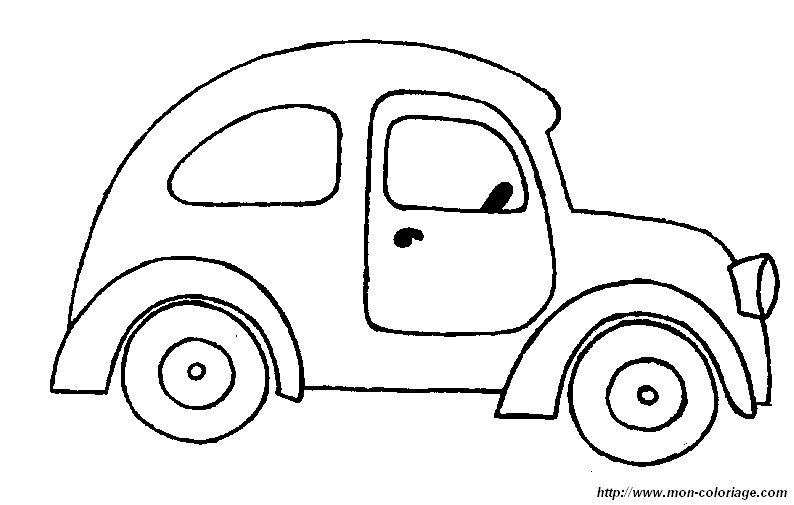 coloriage de voitures  dessin voiture 2cv  u00e0 colorier