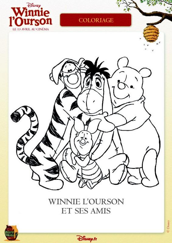 coloriage de winnie l 39 ourson dessin winnie et ses amis. Black Bedroom Furniture Sets. Home Design Ideas