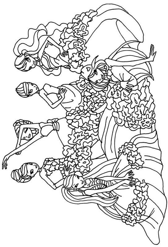 Coloriage de winx club dessin coloriage le groupe des - Winx coloriage en ligne ...