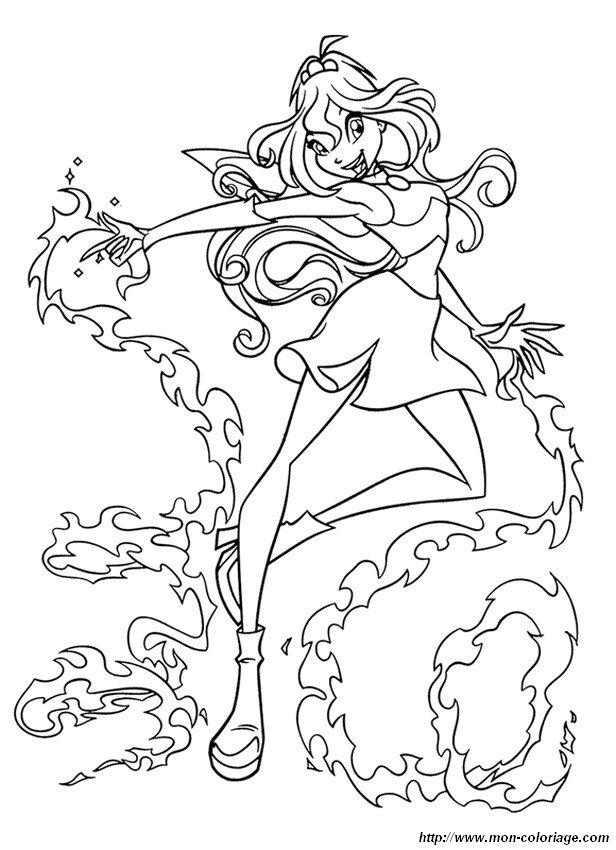 Coloriage de winx club dessin la magie de bloom colorier - Winx coloriage en ligne ...