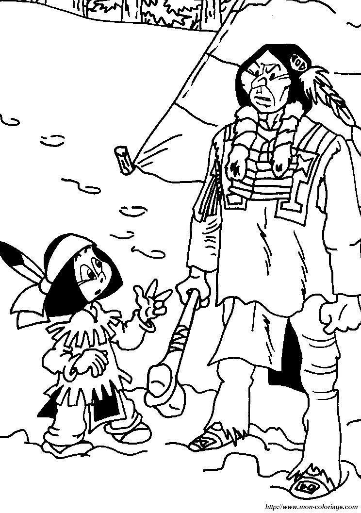 coloriage de yakari, dessin coloriage yakari indien à colorier